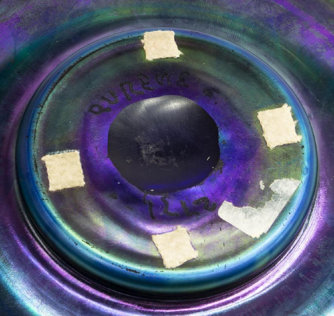 CARDER STEUBEN BLUE AURENE ART GLASS LOW BOWL - 3