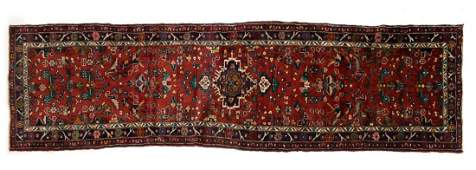 "HAND-TIED PERSIAN SARUQ WOOL RUNNER 13'5"" X 3'9"""