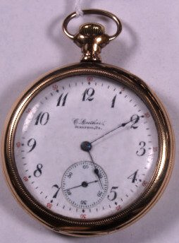 13: ILLINOIS 17J PRIVATE LABEL SIZE 16 POCKET WATCH