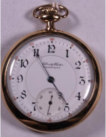 18: ILLINOIS 17J PRIVATE LABEL 16 SIZE POCKET WATCH