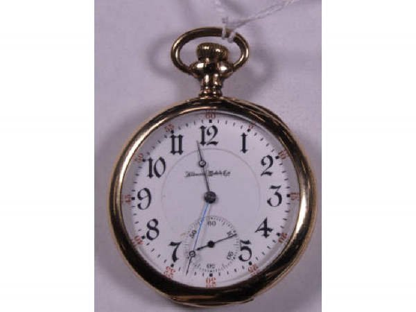 22: ILLINOIS PRIVATE LABEL17J POCKET WATCH SIZE 16
