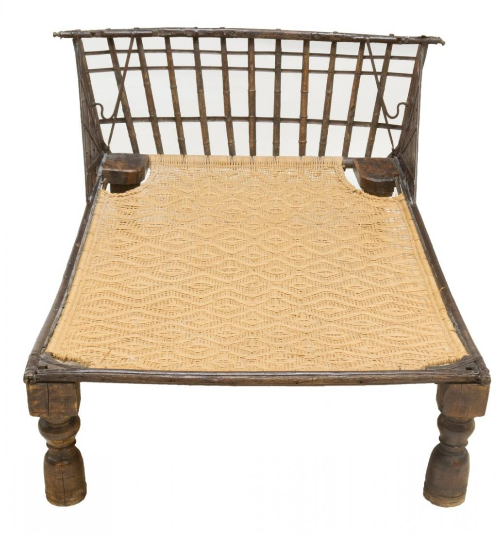 IRON & WOOD FRAMED PLANTATION DOUBLE LOUNGE CHAIR - 2