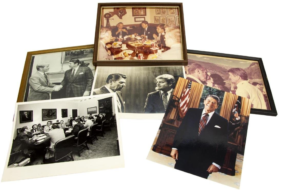 (6) POLITICAL PHOTOS, PRESIDENTS REAGAN & FORD
