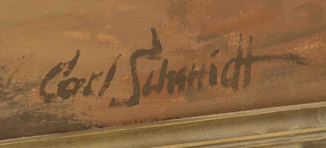 """CARL SCHMIDT (1885-1969) """"NAVAJO HERDER"""", 46 x 60 - 4"""