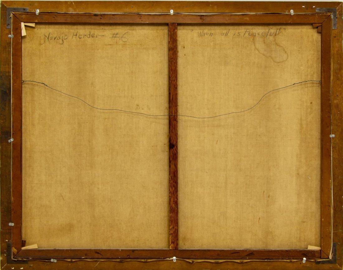 """CARL SCHMIDT (1885-1969) """"NAVAJO HERDER"""", 46 x 60 - 5"""