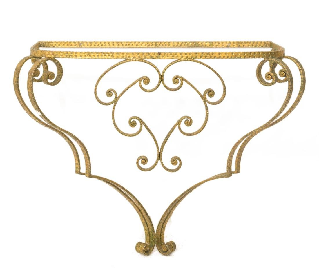 (2) PIER LUIGI COLLI GILT MIRROR & CONSOLE TABLE - 3