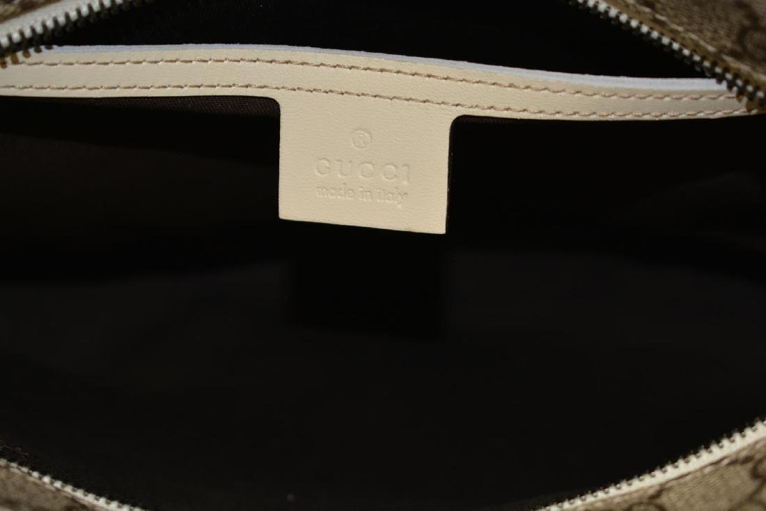 GUCCI BEIGE COATED CANVAS TOTE BAG - 4