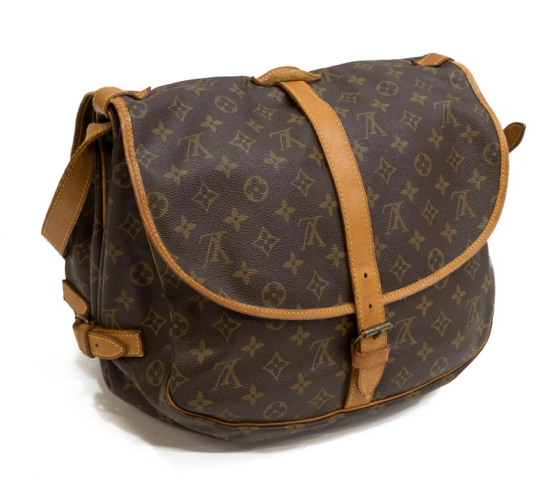 LOUIS VUITTON 'SAUMUR' MONOGRAM CROSSBODY BAG - 2