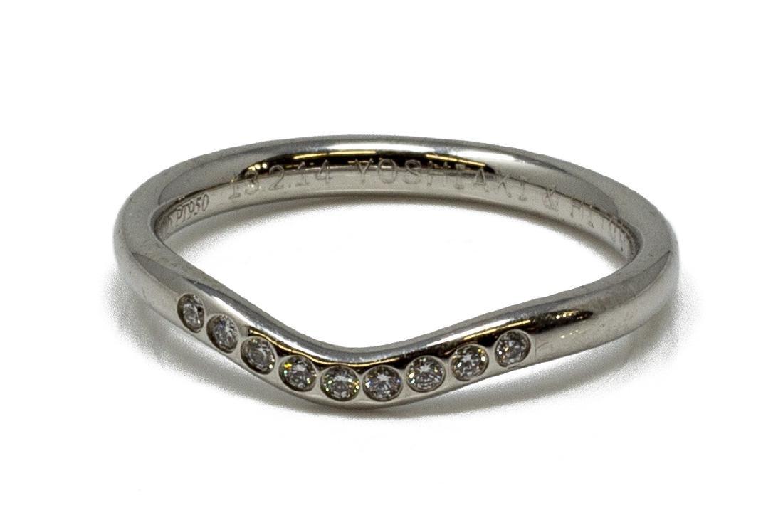 TIFFANY & CO. ELSA PERETTI PLATINUM DIAMOND RING