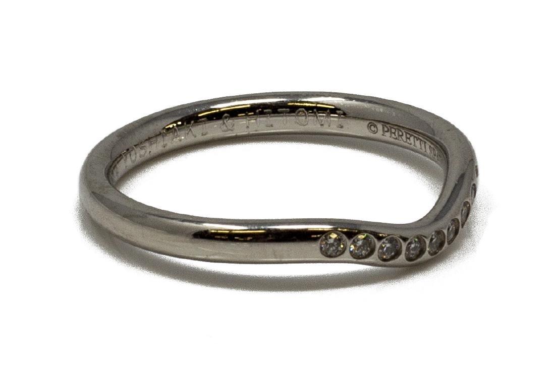 TIFFANY & CO. ELSA PERETTI PLATINUM DIAMOND RING - 2