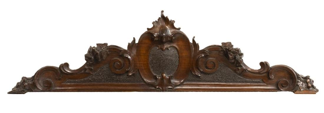 (PAIR) ARCHITECTURAL ELEMENTS CARVED MAHOGANY - 2