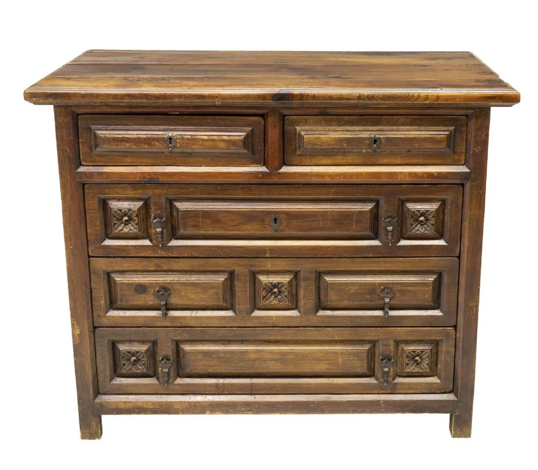 SPANISH FIVE-DRAWER CHEST OF DRAWERS - 2