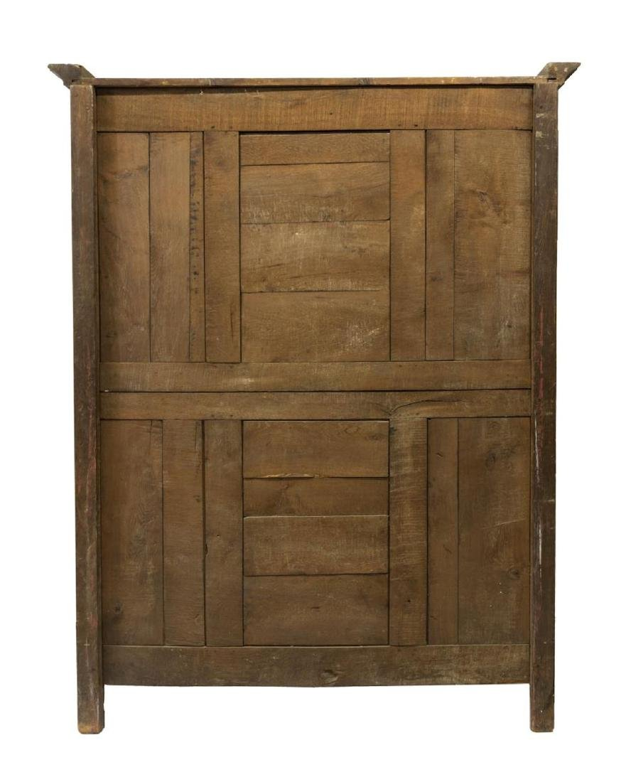 FRENCH LOUIS XV STYLE CARVED OAK ARMOIRE - 4