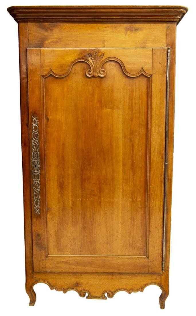 FRENCH LOUIS XV STYLE WALNUT 18th C. ARMOIRE - 2
