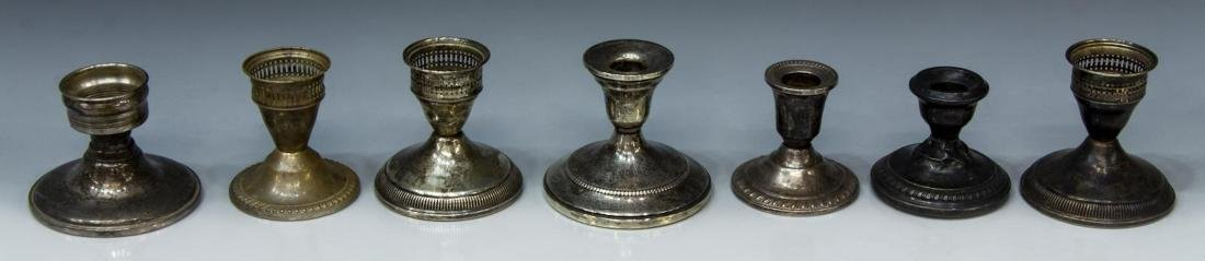 13) AMERICAN WEIGHTED STERLING CANDLESTICK HOLDERS - 2