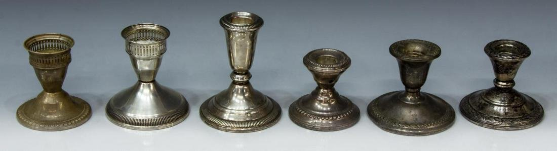 13) AMERICAN WEIGHTED STERLING CANDLESTICK HOLDERS - 3