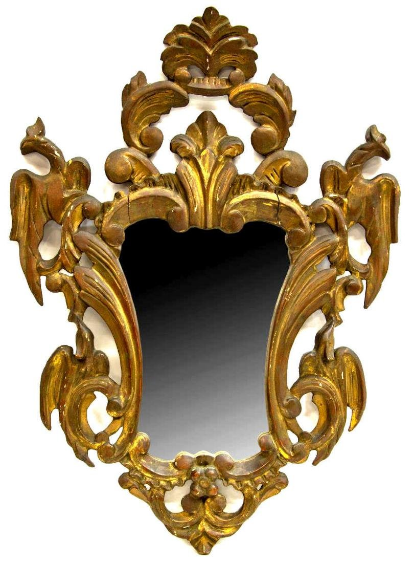 SPANISH GILTWOOD FRAMED WALL MIRROR