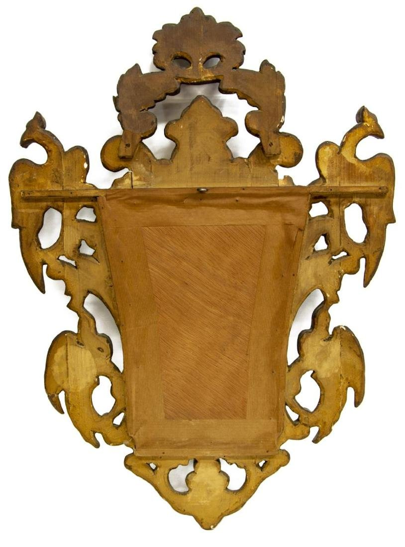 SPANISH GILTWOOD FRAMED WALL MIRROR - 3