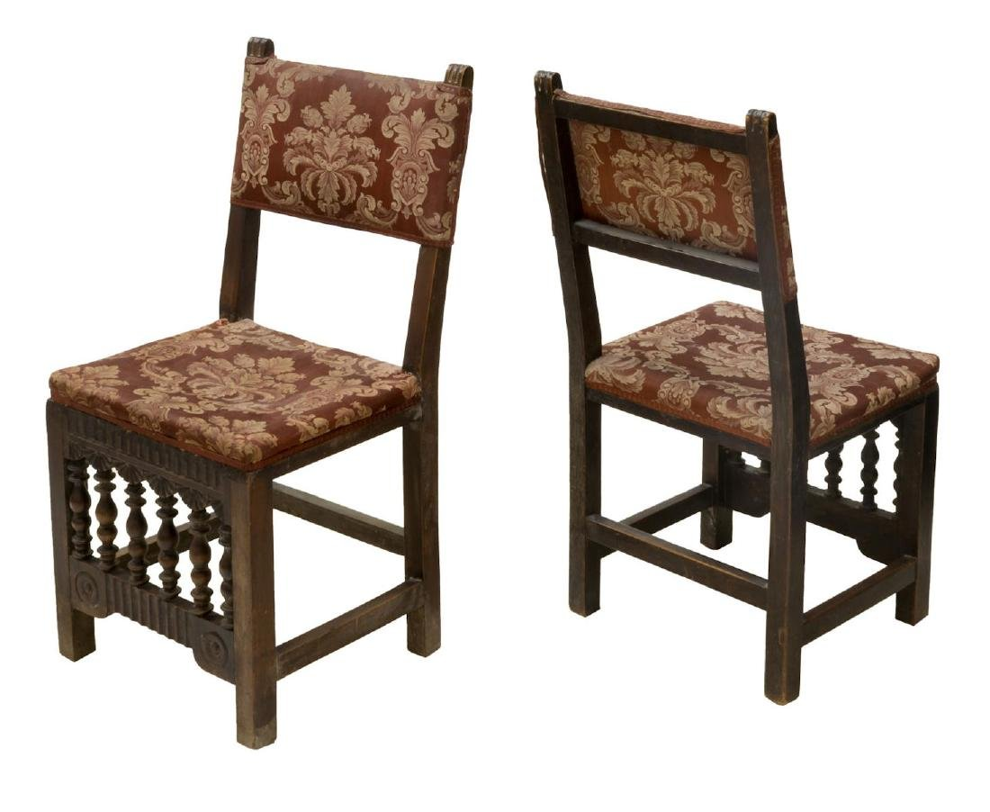 (2) SPANISH BAROQUE STYLE UPHOLSTERED CHAIRS - 2