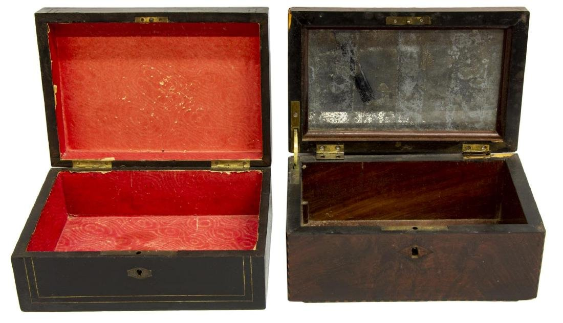 (2) ANTIQUE CONTINENTAL INLAID SEWING BOXES - 2