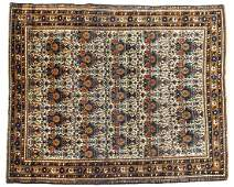 "ANTIQUE PERSIAN HAND-TIED ABADEH RUG 6'1"" X 5'"