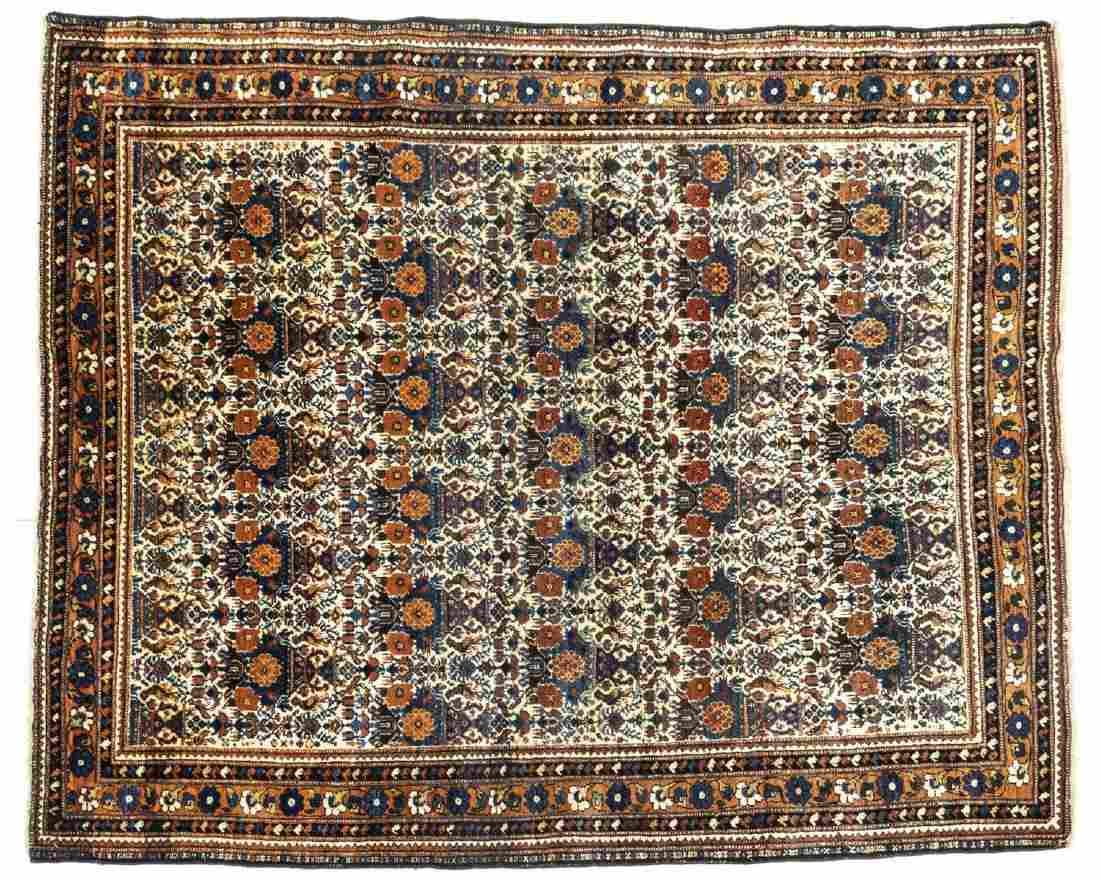 """ANTIQUE PERSIAN HAND-TIED ABADEH RUG 6'1"""" X 5'"""