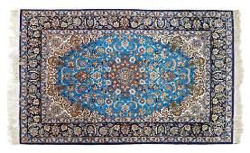 PERSIAN HANDTIED ISFAHAN RUG 56 X 38