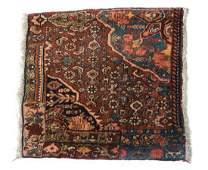 ANTIQUE PERSIAN HANDTIED BIDJAR RUG 18 X 18