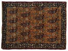 ANTIQUE PERSIAN HANDTIED KERMAN RUG 22 X 17