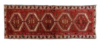 """HAND-TIED PERSIAN STYLE RUG 10'3"""" X 3'"""
