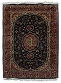 """HAND-TIED FLORAL PATTERN RUG 10'1"""" X 7'1"""""""