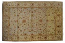 """HAND KNOTTED INDIAN AGRA WOOL RUG, 12'5"""" x 9'"""