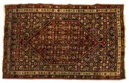 ANTIQUE PERSIAN HANDTIED BIDJAR RUG 5 X 34