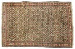 ANTIQUE PERSIAN HANDTIED SENEH RUG 65 X 42
