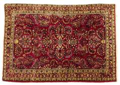 ANTIQUE PERSIAN HANDTIED SAROUKH RUG 48 X 35