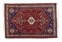 ANTIQUE PERSIAN HANDTIED ABADEH RUG 411 X 36