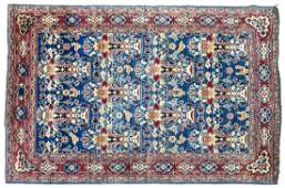 ANTIQUE PERSIAN HANDTIED KASHAN RUG 76 X 48