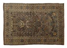 ANTIQUE PERSIAN HANDTIED KERMAN RUG 63 X 43