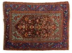 ANTIQUE PERSIAN HANDTIED KURDISH RUG 58 X 44