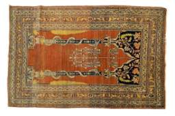 ANTIQUE PERSIAN HANDTIED TABRIZ RUG 64 X 42