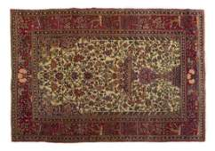 ANTIQUE PERSIAN HANDTIED ISFAHAN RUG 65 X 47
