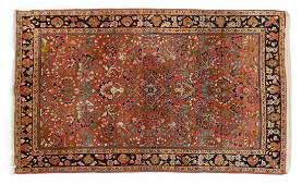 ANTIQUE PERSIAN HANDTIED SAROUKH RUG 71 X 43
