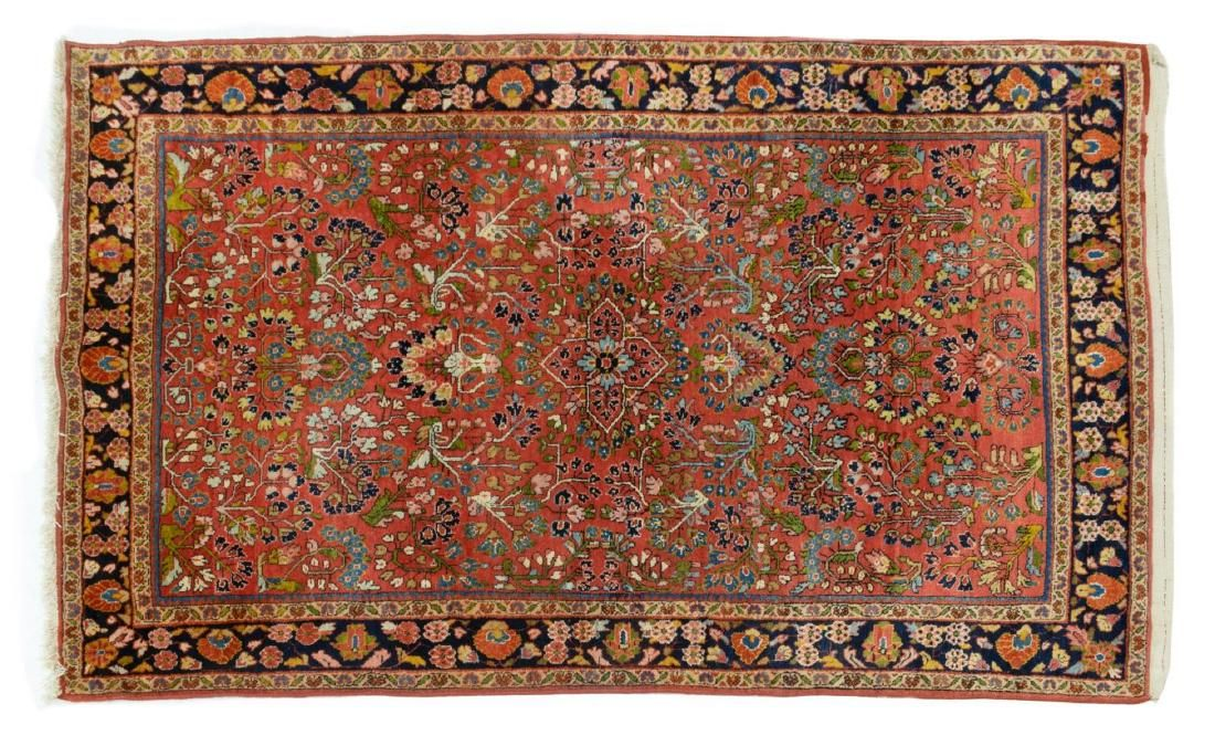 "ANTIQUE PERSIAN HAND-TIED SAROUKH RUG 7'1"" X 4'3"""