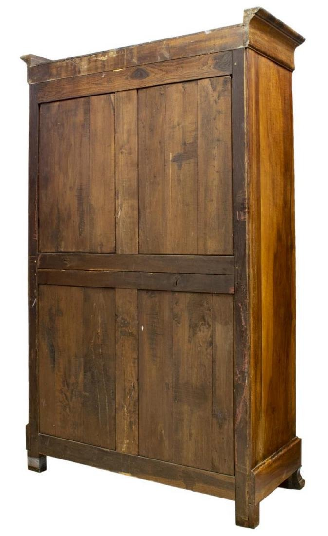 FRENCH LOUIS PHILIPPE BURLWOOD ARMOIRE - 4