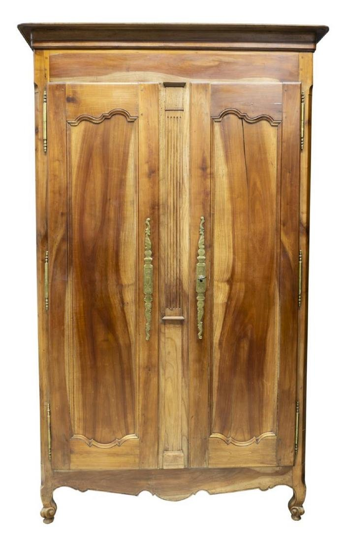 FRENCH LOUIS XV STYLE FRUITWOOD ARMOIRE - 2
