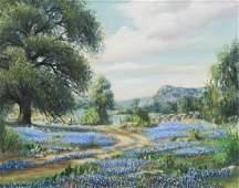 LAJUANA WESTERFIELD (TX) BLUEBONNET OIL PAINTING