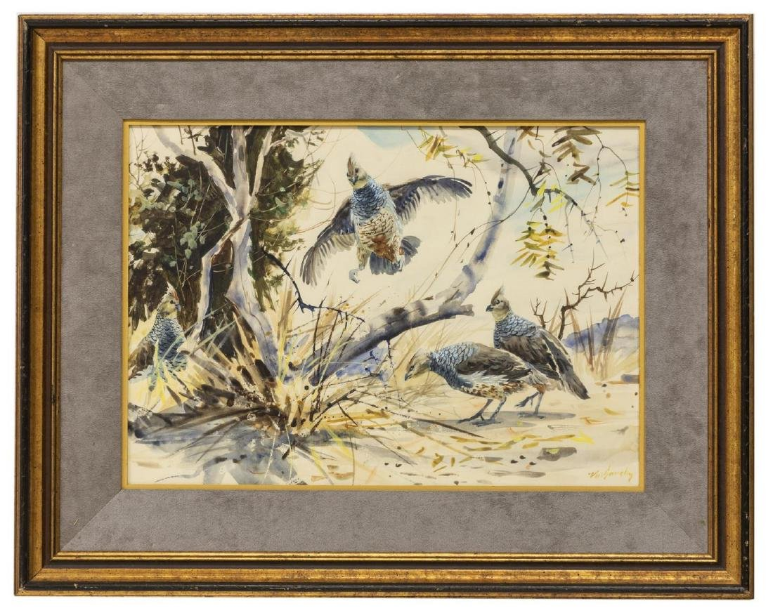 CLAY MCGAUGHY (B. 1931) BIRD WATERCOLOR PAINTING - 2
