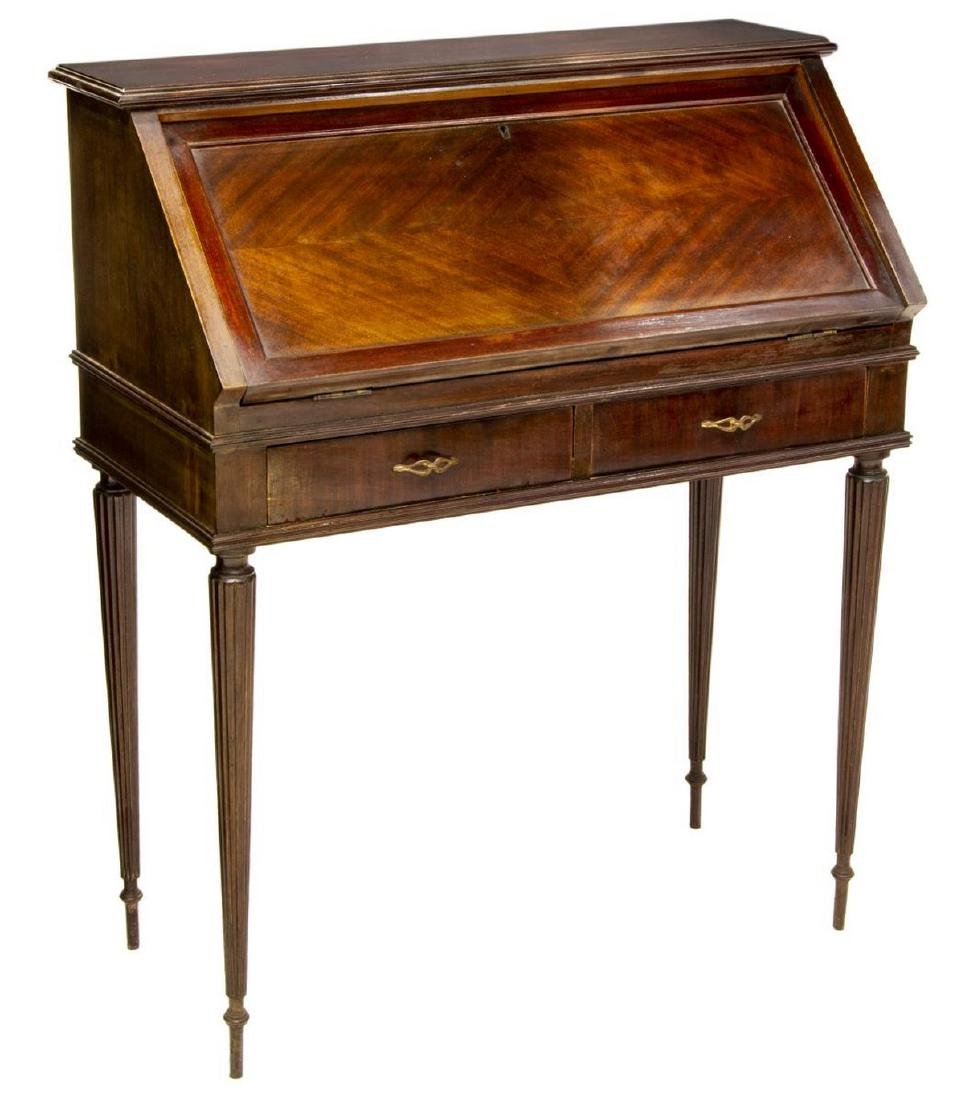 FRENCH LOUIS XVI STYLE FITTED FALL FRONT DESK