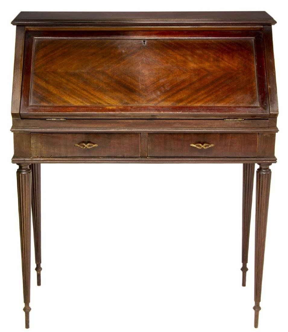 FRENCH LOUIS XVI STYLE FITTED FALL FRONT DESK - 2