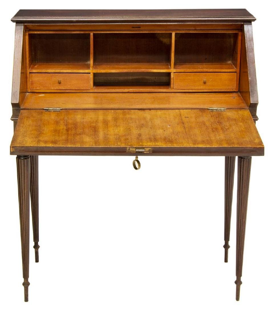FRENCH LOUIS XVI STYLE FITTED FALL FRONT DESK - 3